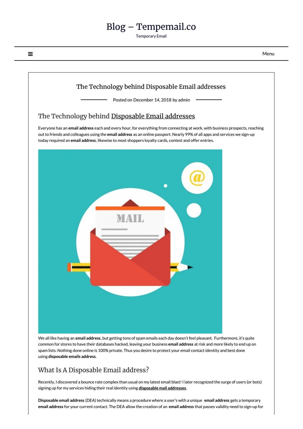 The Technology behind Disposable Email addresses by
