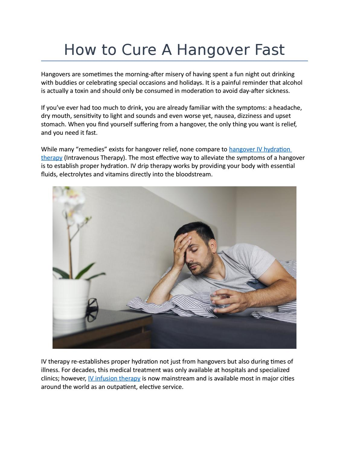 How to Cure a Hangover Fast - IVDIV com by Peter Lee - issuu