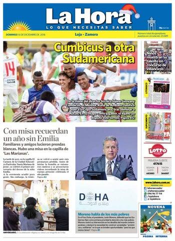 36479b62ed288 Diario La Hora Loja 16 de Diciembre 2018 by Diario La Hora Ecuador ...