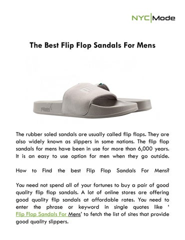 d334ffb9d The Best Flip Flop Sandals For Mens by NYCMode - issuu