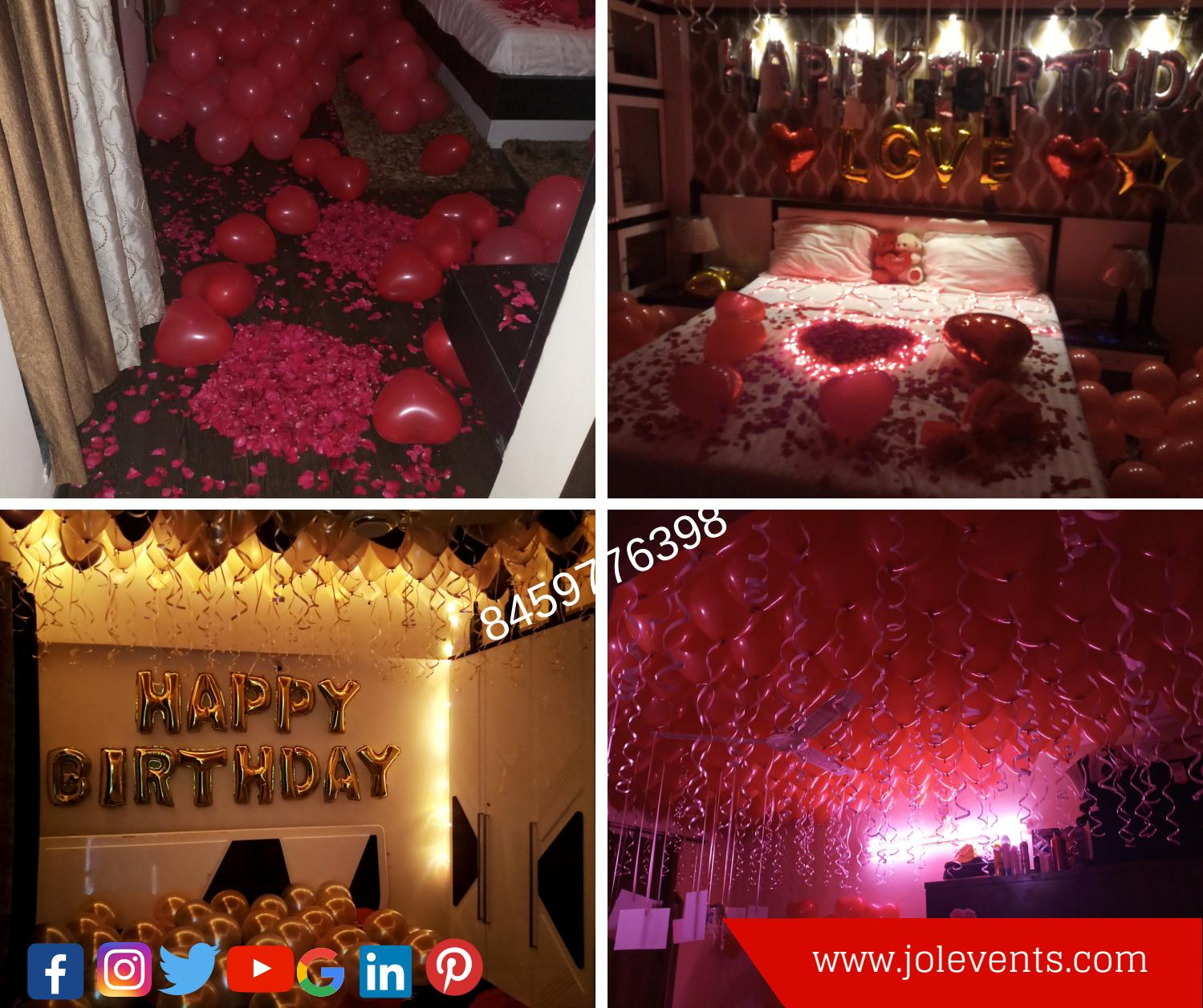 Surprise Your Partner With Romantic Room Decoration
