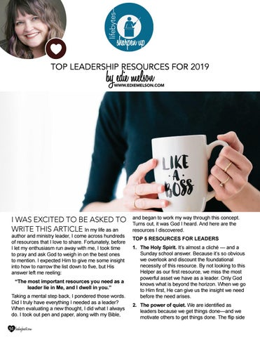 Page 34 of Top Leadership Resources For 2019