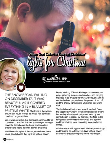 Page 42 of When God Calls the Heart at Christmas: Lights for Christmas by Heartie Michelle S. Cox