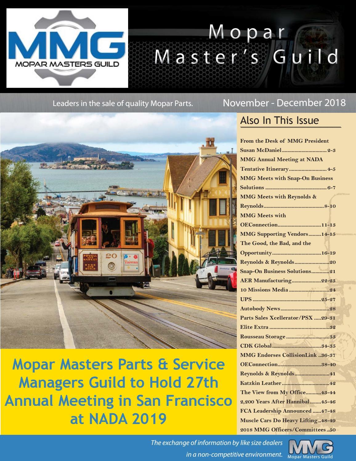 Mopar Masters Guild Magazine November - December 2018