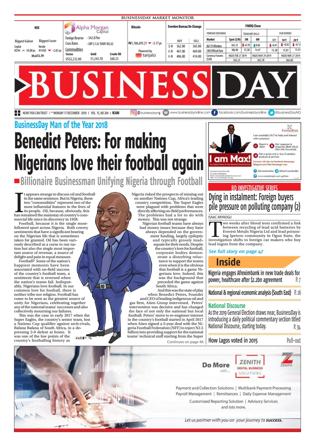 BusinessDay 17 Dec 2018 by BusinessDay - issuu