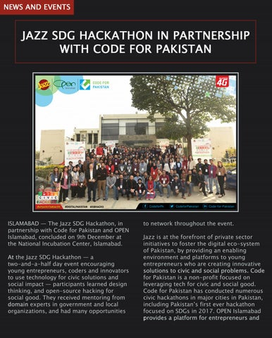 Page 8 of JAZZ SDG Hakathon in Partnership with Code for Pakistan