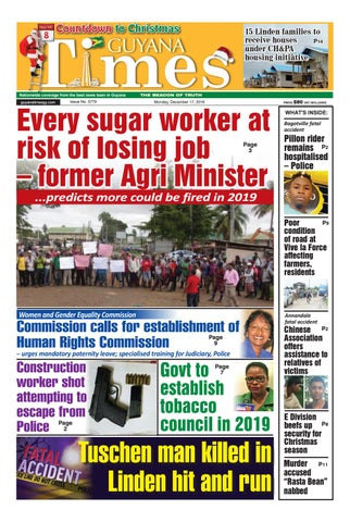 Chongqing Ovid Hostel Christmas Buffet 2020 Guyana Times Monday, December 17, 2018 by Gytimes   issuu