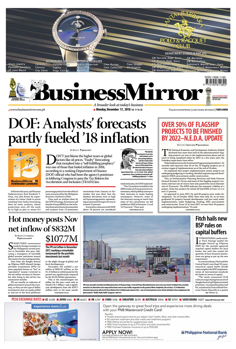 Businessmirror December 17, 2018 by BusinessMirror - issuu