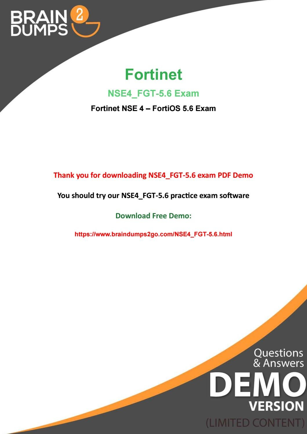 Purchase Real Fortinet NSE4_FGT-5 6 Exam Dumps And Get 20