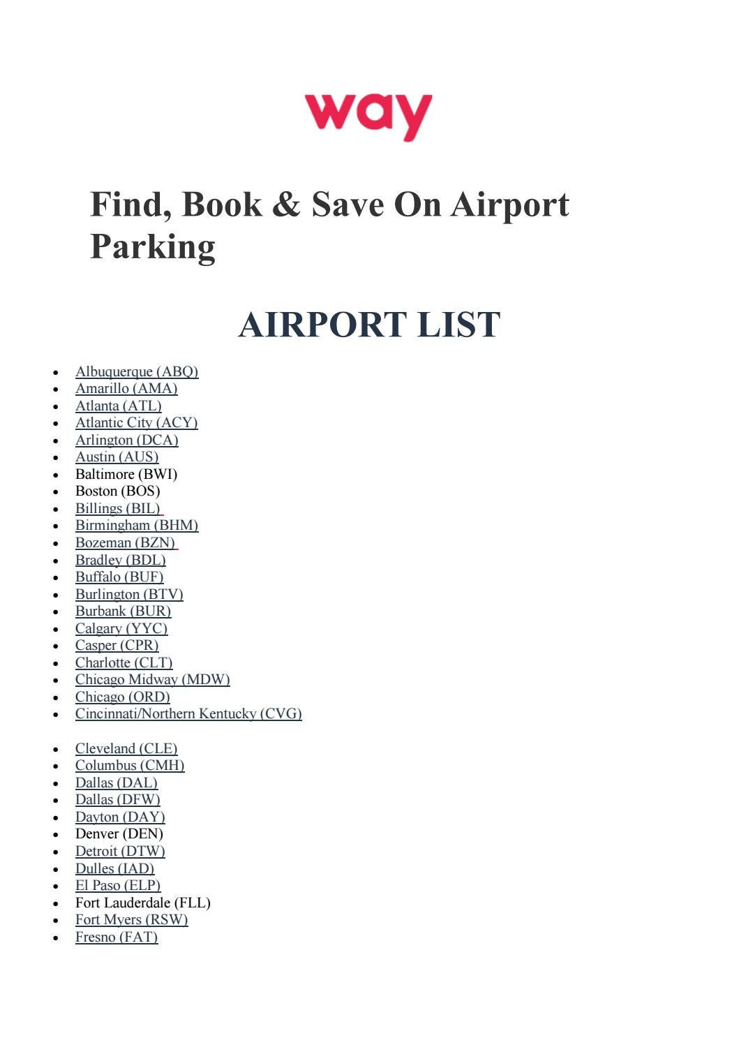 Pdx Long Term Parking >> Airport Parking With Way By Way Usa Issuu