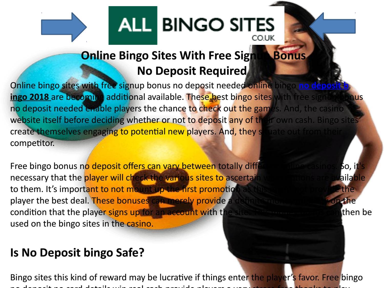 Free Bingo Games No Deposit Required