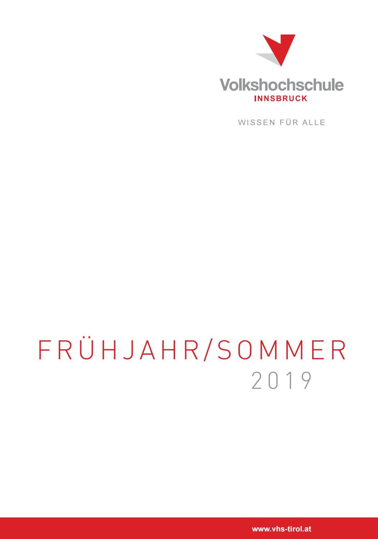 FrühjahrSommer 2019 VHS Innsbruck by Volkshochschule