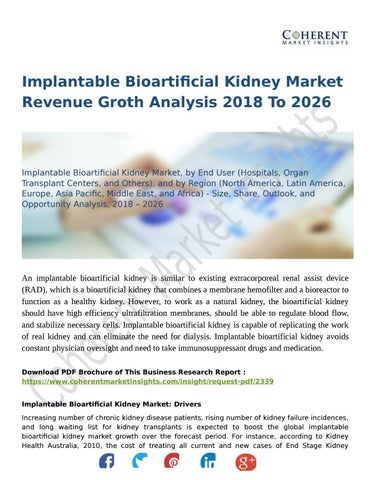 Implantable Bioartificial Kidney Market Revenue Groth Analysis 2018