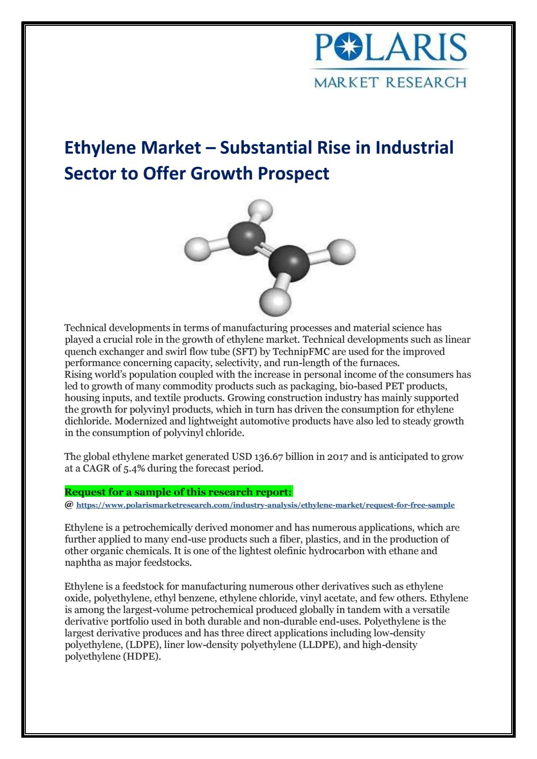 Ethylene Market Outlook and Analysis to 2026 – Leading Top