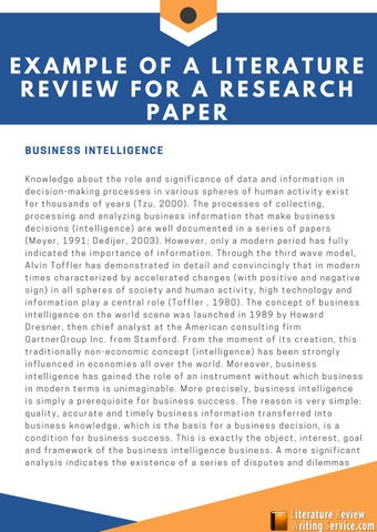 intelligence collection literature review
