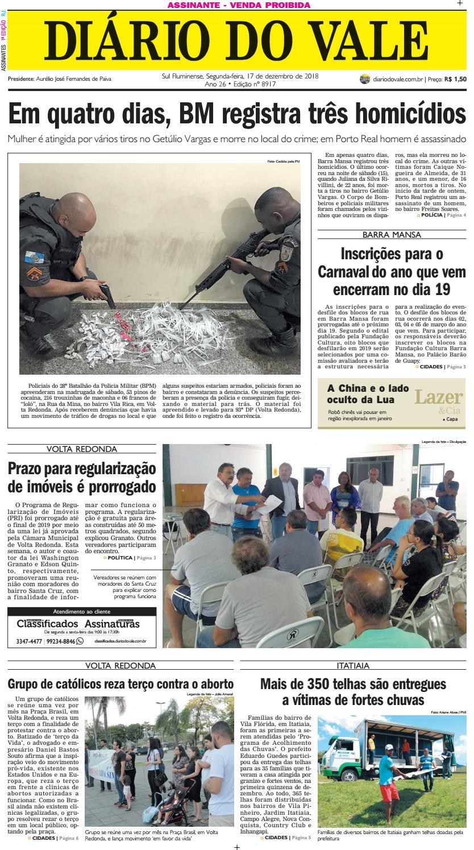 9bcb5718a 8917 - diario - Segunda-feira - 17.12.2018 by Diário do Vale - issuu