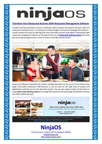 Transform Your Restaurant Business With Restaurant Management