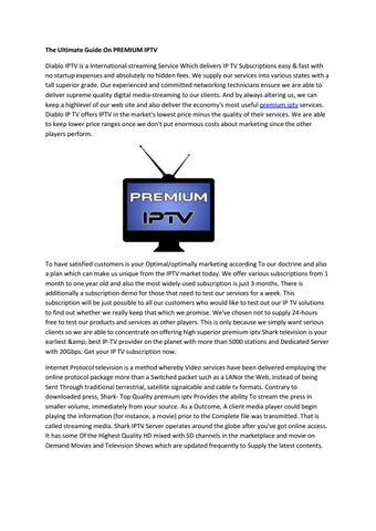 premium iptv by Alyssa - issuu
