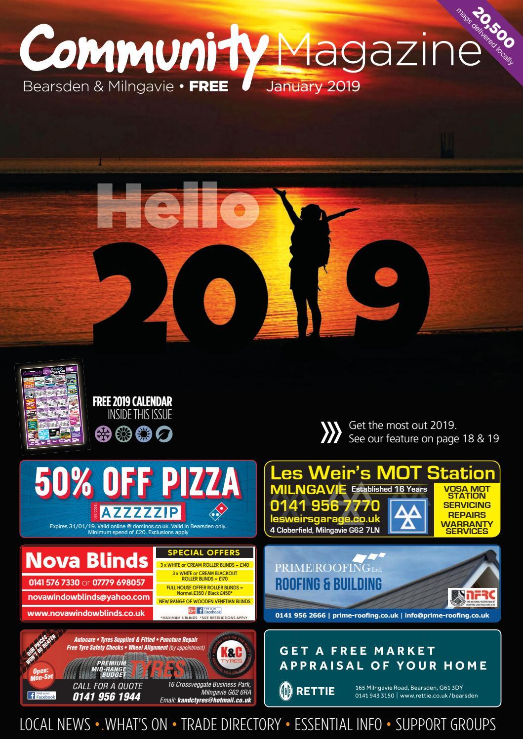 Bearsden Milngavie Community Magazine January 2019 By