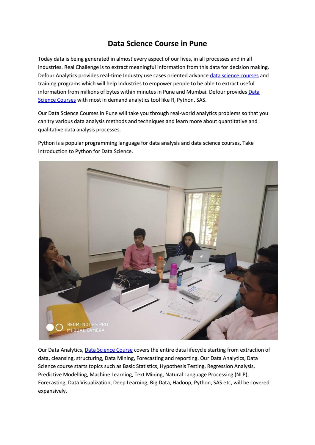 Data Science Course in Pune by Tejas Sonawane - issuu