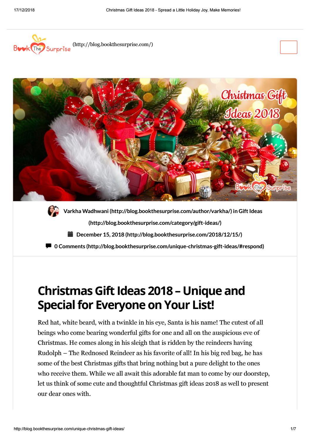 Christmas Gift Ideas 2018 Order Fancy