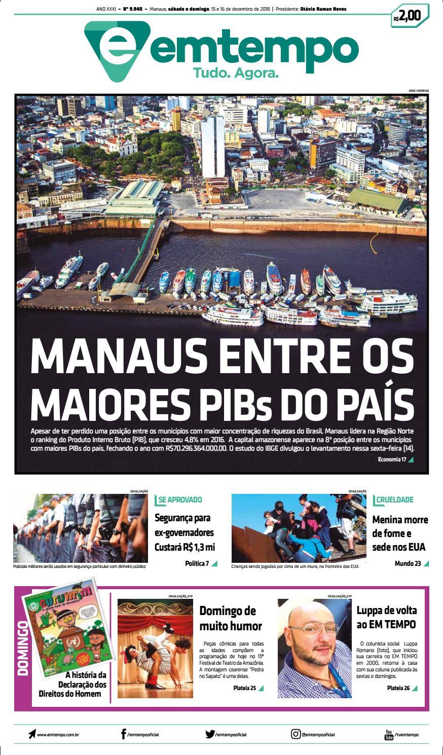 aa3ed28d94 Em Tempo - 16 de Dezembro de 2018 by Amazonas Em Tempo - issuu