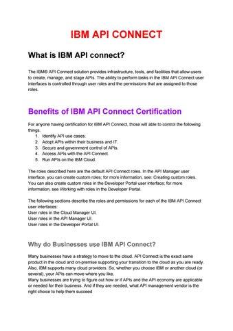 IBM API Connect Online Training Course by Nikhil john - issuu