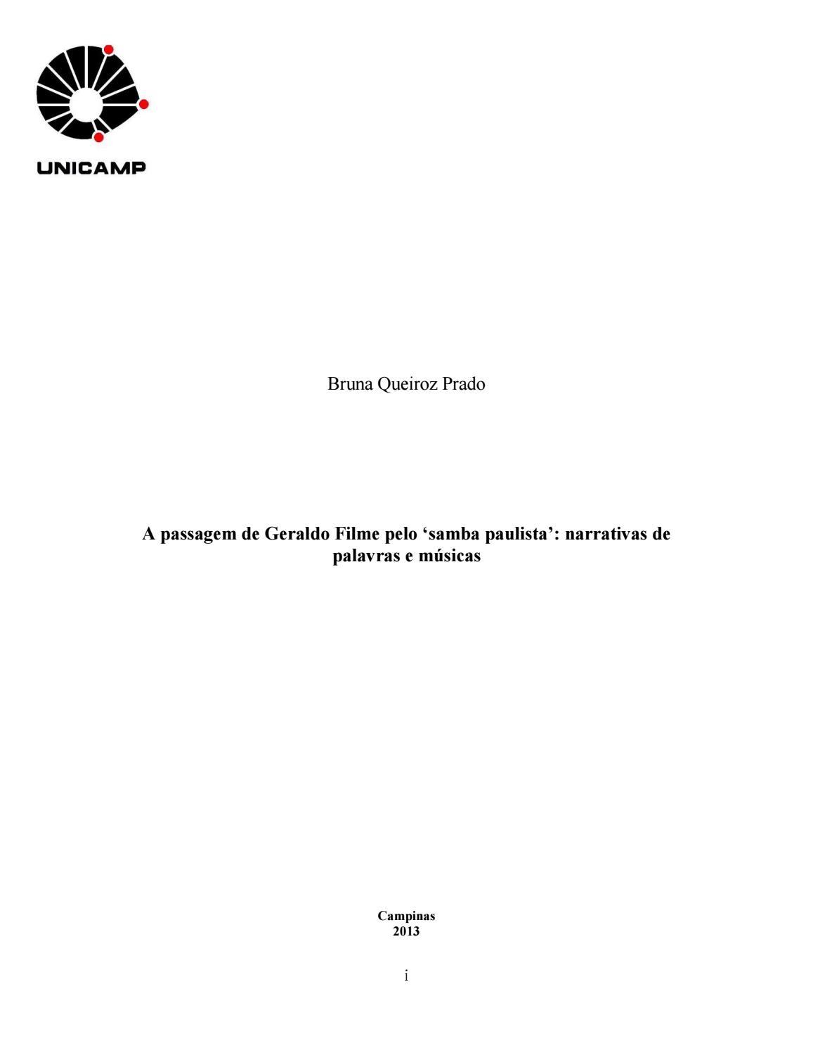 A passagem de Geraldo Filme pelo  samba paulista   narrativas de palavras e  músicas by Portal Academia do Samba - issuu 89a42098bb3cc