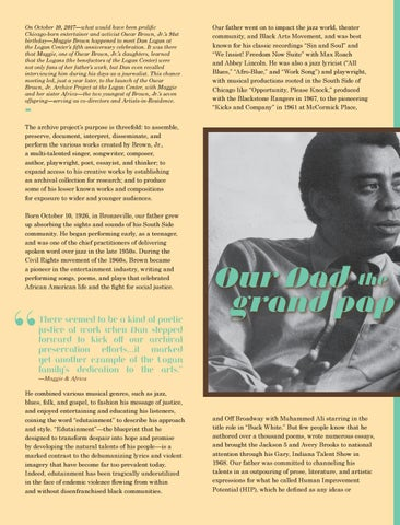 Page 34 of Our Dad, the Grand Pop of Rap: Oscar Brown, Jr.