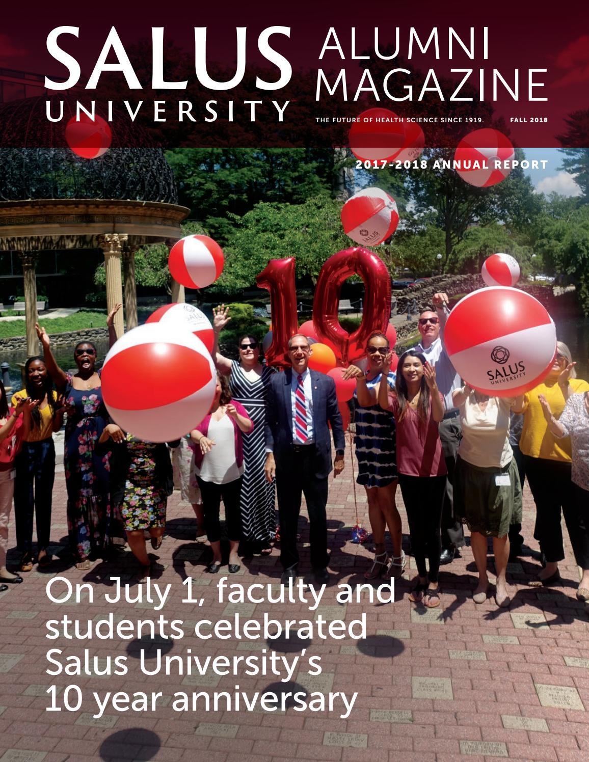 Salus University Alumni Magazine Fall 2018 by Salus University - issuu
