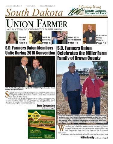 December 2018 Union Farmer by South Dakota Farmers Union - issuu