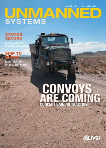 Unmanned Systems magazine: November 2015 by AUVSI Unmanned