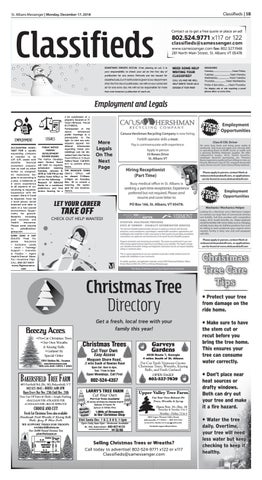 12/17/18 Classifieds by St  Albans Messenger - issuu