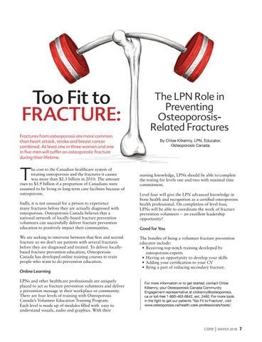Page 7 of Too Fit to Fracture: The LPN Role in Preventing Osteoporosis-Related Fractures