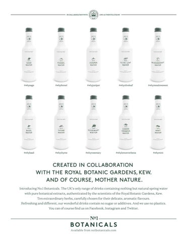 06e5b2a28c8 Introducing No.1 Botanicals. The UK s only range of drinks containing  nothing but natural spring water with pure botanical extracts