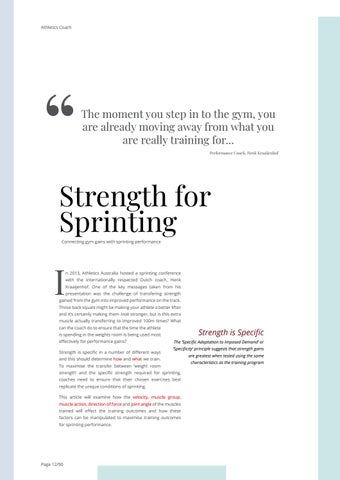 Page 12 of Strength for Sprinting