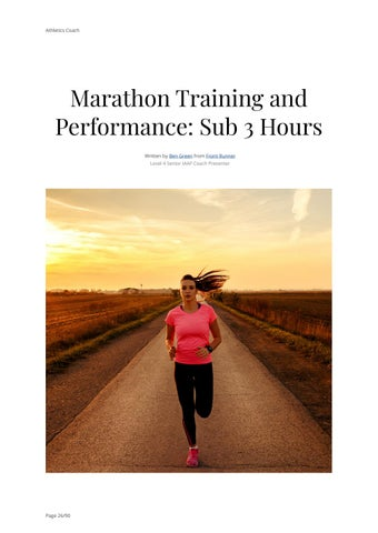 Page 26 of Marathon Training and Performance: Sub 3 Hours
