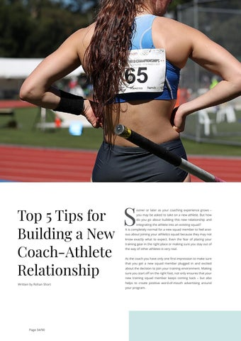 Page 34 of Top 5 Tips for Building a New Coach-Athlete Relationship