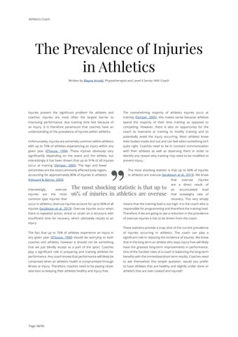 Page 38 of The Prevalence of Injuries in Athletics