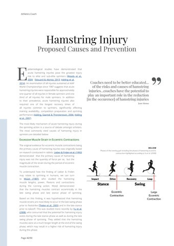 Page 40 of Hamstring Injury - Proposed Causes and Prevention