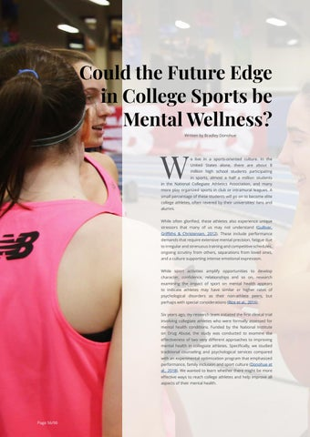 Page 56 of Could the Future Edge in College Sports be Mental Wellness?