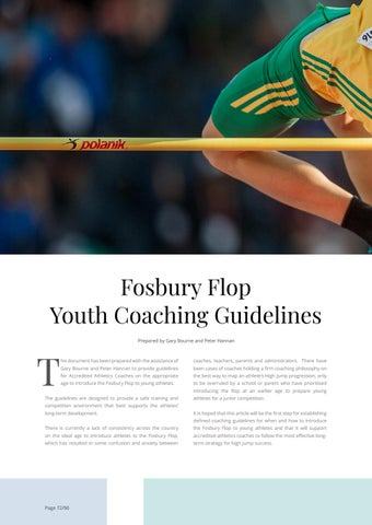 Page 72 of Fosbury Flop: Youth Coaching Guidelines