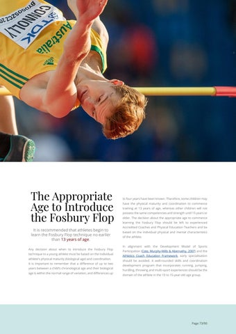 Page 73 of Fosbury Flop: Youth Coaching Guidelines
