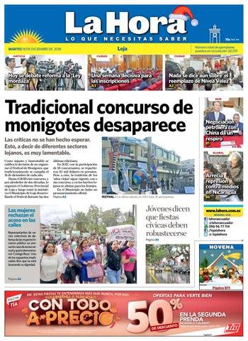 Diario La Hora Loja 18 De Diciembre 2018 By Diario La Hora Ecuador