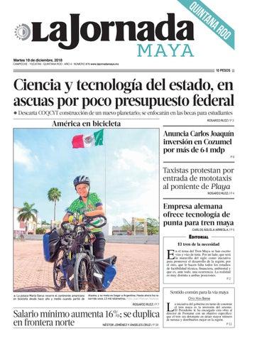 La Jornada Maya · martes 18 de diciembre de 2018 by La Jornada Maya ... ac718ec4fd932