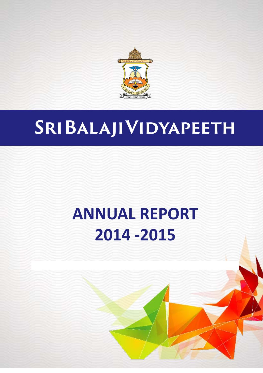 SBV Annual Report 2013-14 by Dept of Medical Informatics - issuu
