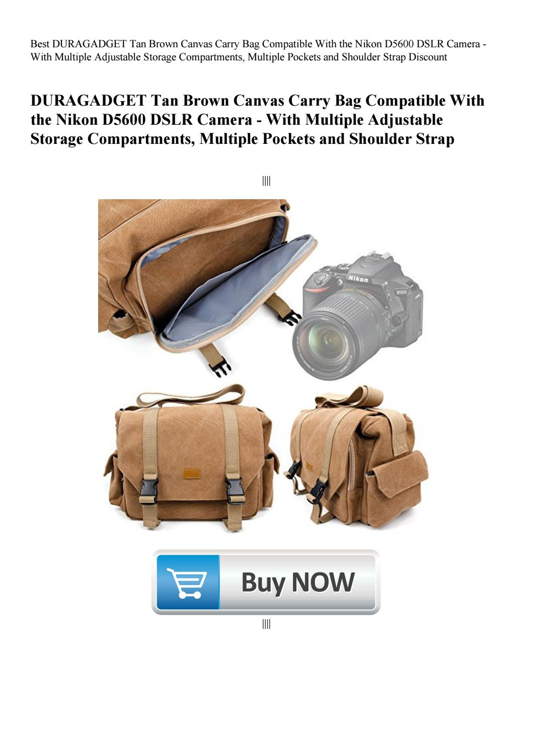 f2c4f82665c4 Best DURAGADGET Tan Brown Canvas Carry Bag Compatible With the Nikon ...