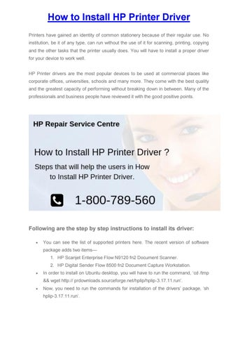 How to Install HP Printer Driver by bensmith7755 - issuu