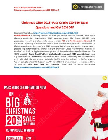 Oracle Application Developement 1z0-926 Exam - 20% Off On
