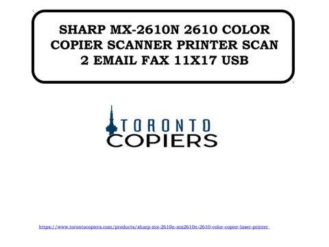 SHARP MX-2610N PRINTER DRIVERS FOR WINDOWS 7